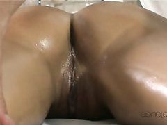 Ebony, Feet, Massage, Teen