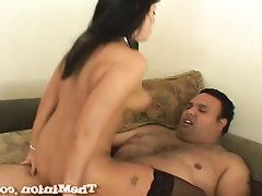 Babe, Big Tits, Blowjob, Ebony, Interracial