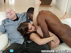 Blowjob, Cuckold, Cumshot, Interracial