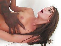 Brunette, Interracial, Pornstar, Small Tits