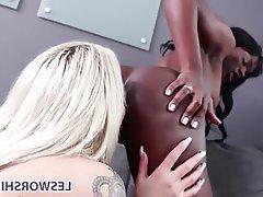 Lesbian, Interracial, Big Tits, Pussy