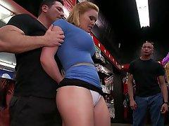 Blonde, Public, BDSM, Submissive