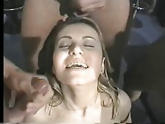 Big Boobs, Brunette, Double Penetration, Facial, Threesome